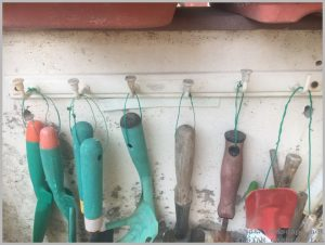how to hang garden tools idea