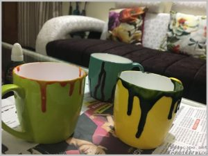 paint tea cups indoor plants